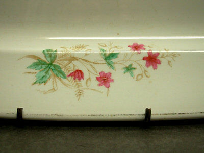"""Anthony Shaw Stone China Transferware Platter 14"""", Antique Serving Plate"""