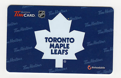 Tim Hortons 2016 NHL Toronto Maple Leafs Coffee Card RELOADABLE AA