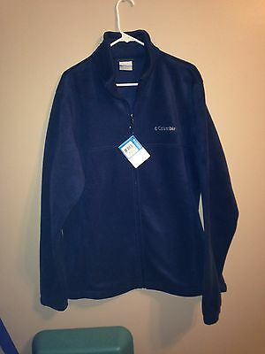 Columbia Flattop Mountain Fleece Jacket- Navy, LT  - New with Tags