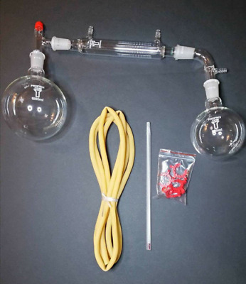 1000ml,24/40,Distillation Apparatus,Vacuum Distill Kit Water Hose Keck Clips