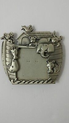 Noah's Ark Pewter Baby Picture Frame