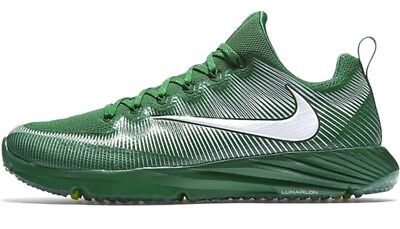 NEW NIKE VAPOR SPEED TURF sz 14 GREEN White Football Lacrosse Shoes Sneakers