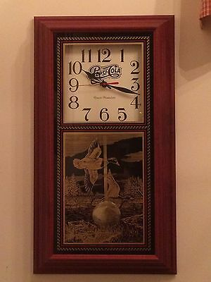 "New! Pepsi-Cola & Duck Theme Pendulum Clock 24.5"" Tall by Hanover             f2"