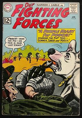 Our Fighting Forces #67 1962 Sharp Fn Minus Glossy  Gunner+Sarge 3 Great Stories