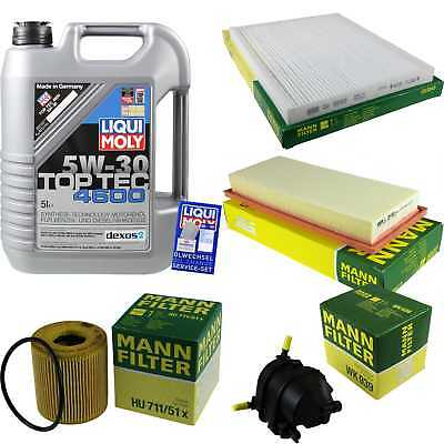 Packet Inspection 5 L Liqui Moly TOP TEC 4600 5W-30 + Man Filter Package 9877649