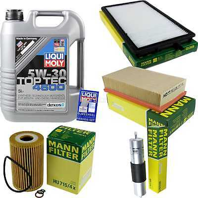 Packet Inspection 5 L Liqui Moly TOP TEC 4600 5W-30 + Man Filter Package 9872122