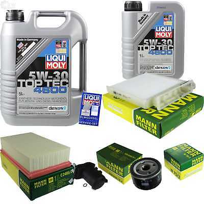 Packet Inspection 6 L Liqui Moly TOP TEC 4600 5W-30 + Man Filter Package 9833522