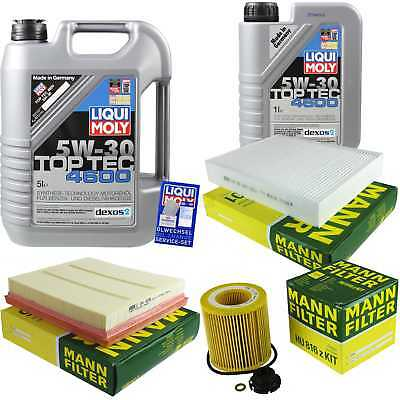 Packet Inspection 6 L Liqui Moly TOP TEC 4600 5W-30 + Man Filter Package 9804281