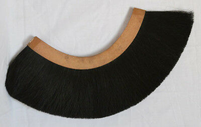 Black PLUME Black CREST BRUSH Natural Horse Hair For ROMAN SOLDIER HELMET ARMOR