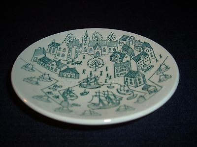 Nymolle Art Faience Hoyrup Ltd Edition Plate and Cup Made in Denmark