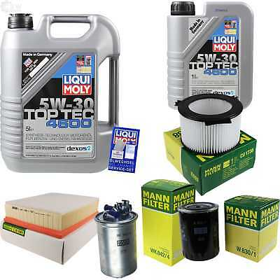 Packet Inspection 6 L Liqui Moly TOP TEC 4600 5W-30 + Man Filter Package 9823803