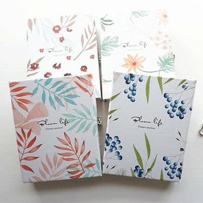 """""""Flower Posture"""" 1pc Hard Cover Notebook Lock Box Diary Colored Paper Journal"""