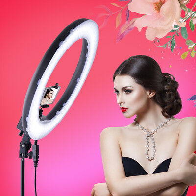 14'' 5500K Dimmable LED Ring Light Video Photos Photograph Diffuser Light Stand