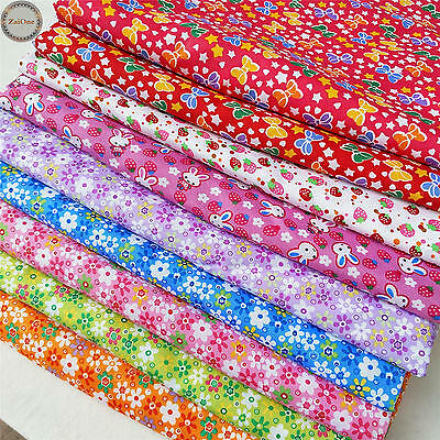 Floral Printed Vintage Fabric Quilting Cotton Crafts Dress Material By The Yard