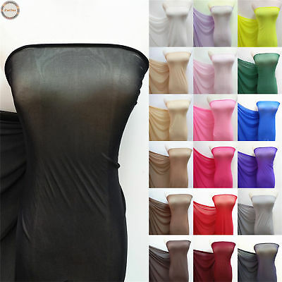 Power Mesh 4 Way Stretch Nylon Lycra Spandex Fabric Dancewear Swimwear Dress