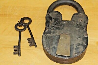 Large Alcatraz Style Jail Cell Prison Guards Lock and Key Vintage