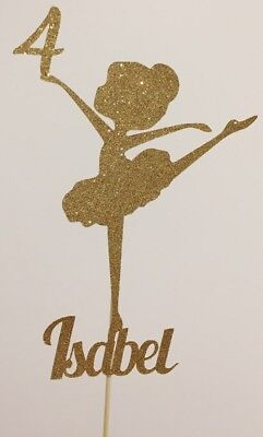 Personalised Custom Birthday Cake Topper Pretty Ballerina Add Your Age And Name