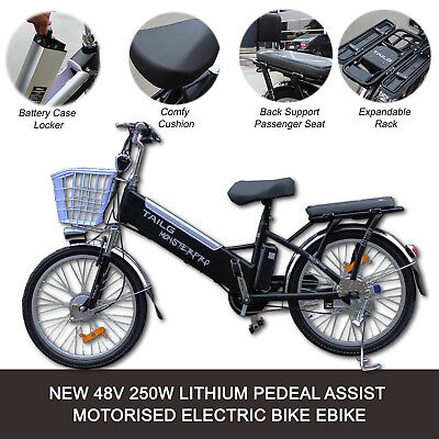NEW EBIKE 250W 48V Electric Bike City Bicycle LED E-Bike Pedal Assist 50km Range