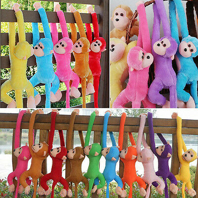 Colorful Long Arm Monkey Hanging Soft Plush Dolls Stuffed Animal Toys Kids Baby