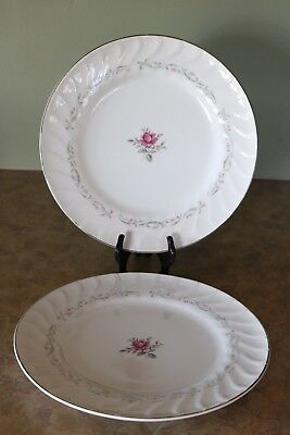 "Fine China of Japan ROYAL SWIRL MSI 10 1/4"" Dinner Plates (2)"
