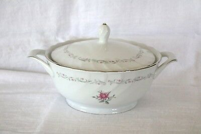 Fine China of Japan ROYAL SWIRL MSI Round Covered Vegetable Serving Bowl
