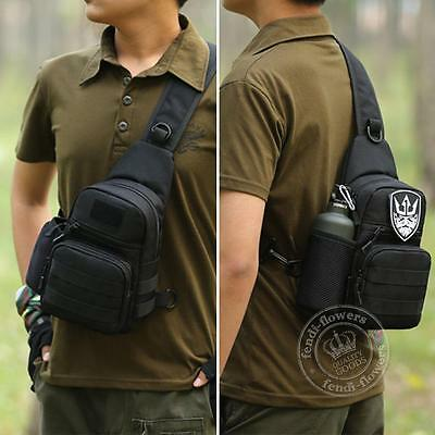 Men's Military Tactical Outdoor Shoulder Sling Chest Bag Travel Hiking Backpack