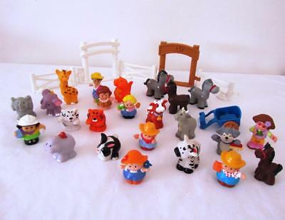 BULK Lot Fisher Price LITTLE PEOPLE Farm & Zoo Animals