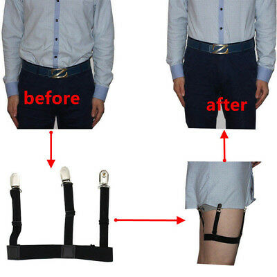 2pcs Mens Stays Holders Elastic Shirt Locking Garter Non-Slip Clamps Uniform