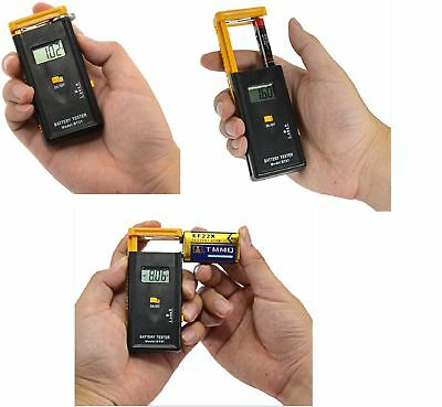 LCD Display Digital Battery Tester 5v AA /AAA /C/ D 9V Battery Checker Button