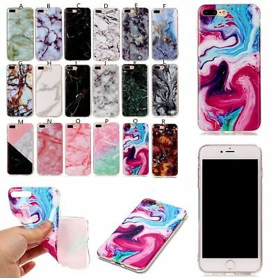 Pretty Granite Marble Stone Effect Soft Case Cover For iPhone 6s 6 7 Plus 5 iPod