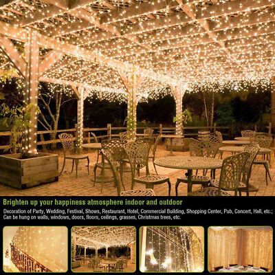 100-1000 LED 30-100M Warm White Fairy Christmas String Strip Light Party Outdoor
