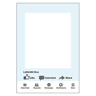 Large Size Party Props Photo Booth Frame FB Share Comment 1000k Likes Party Fun