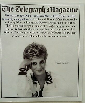 DIANA PRINCESS OF WALES   The Telegraph Magazine Special Issue   August26,  2017