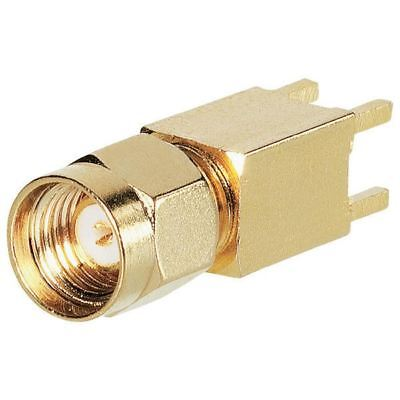 BKL 0419024 SMA Reverse Male PCB Mount Vertical 50 Ohm Gold-plated 25mm High