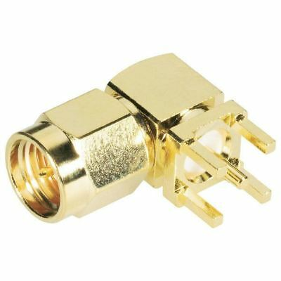 BKL 0409060 SMA Male PCB Mount 90° 50 Ohm Gold-plated