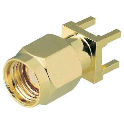 BKL 0419021 SMA Reverse Male PCB Mount Vertical 50 Ohm Gold-plated 17mm High