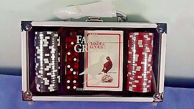 The Famous Grouse Poker Chip Dice Card Set Carry Case New