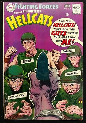 Our Fighting Forces #114 Vf Gorgeous 1968 Lt. Hunter+Hellcats Kubert Cover
