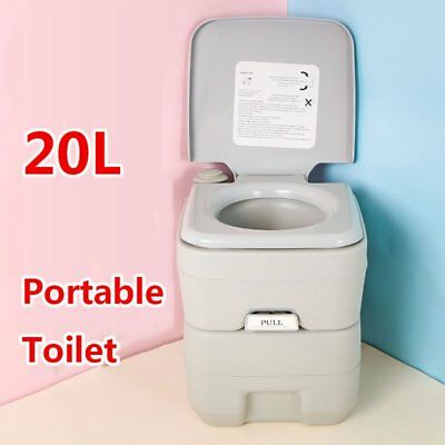 5 GALLON 20L Flush Portable Toilet Outdoor Indoor Travel Camping for ...