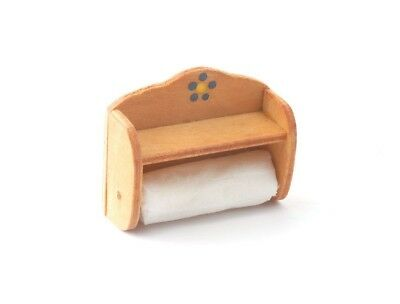 Dolls House Miniatures: Kitchen 'Roll in Wooden Holder : 12th scale