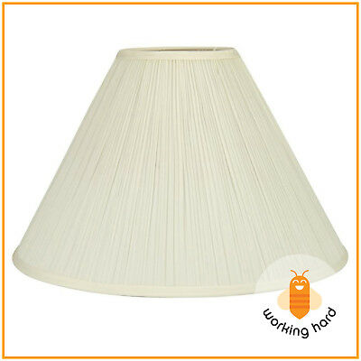 Lamp shades lamps lighting ceiling fans home garden picclick bell lamp shade large base cone light standard top ring spider cream fabric greentooth Image collections