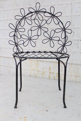 Wrought Iron Adult Daisy Chair Patio Furniture