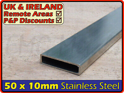 Stainless Steel Rectangular Tube ║ 50 x 10 mm ║ box section iron,profile,tubing