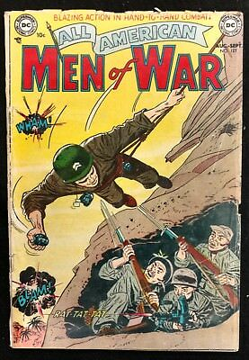 All-American Men Of War #127 1952 Really #1 Solid Gd Comp. Ad Our Army At War 1