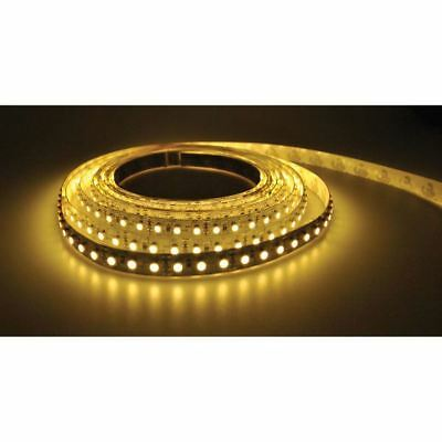 PowerPax UK 5MFL-300SMD-WW 5m 12V LED Strip Warm White 2.1mm Input 60pcs 4.8W