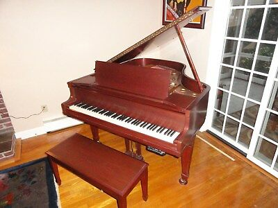Antique Vintage Restored Knabe Baby Grand Piano w/ Pianomation Player Amplifier