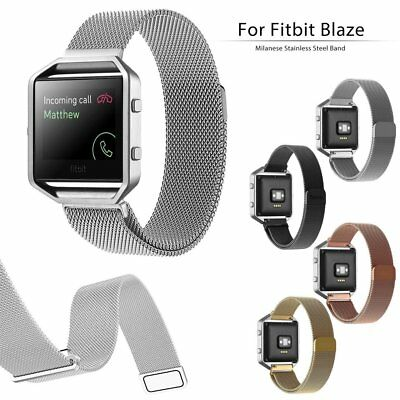 Milanese Magnetic Metal Rose Gold Strap Stainless Steel Watch Fitbit Blaze Band