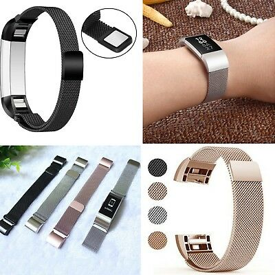 Fitbit Charge 2 Strap Bracelet Magnetic Loop Stainless Steel Milanese Wrist Band