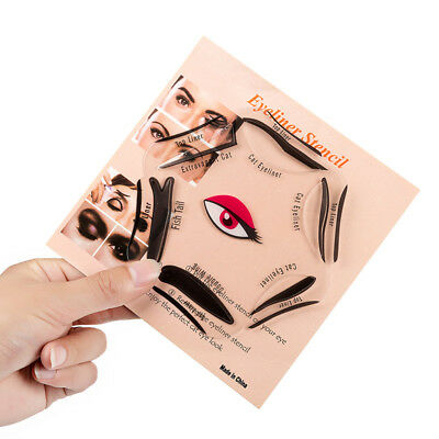 Pochoir Eyeliner Stencil Cat Eye - 6 formes - Plus de BAVURES !