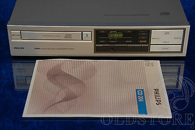►PHILIPS CD 204◄ LETTORE CD PLAYER CDM1 2 x TDA1540P OLD SCHOOL MANUALE VINTAGE